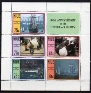 Niue, Block Mi-Nr. 110 **, 100 Jahre Freiheitsstatue New York