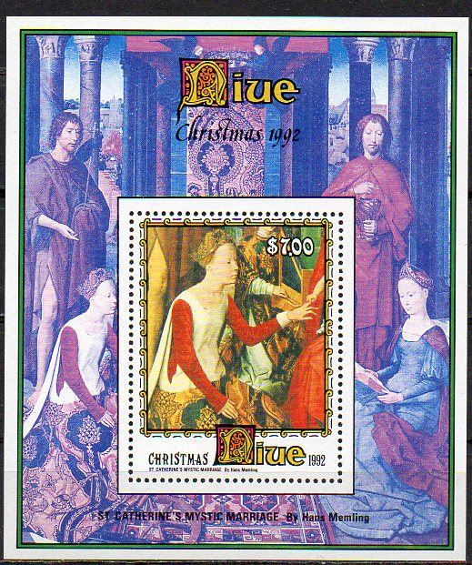 Niue, Block Mi-Nr. 121 **, Weihnachten 1992