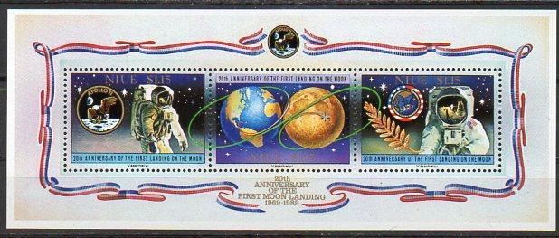 Niue, Block Mi-Nr. 114 **, 20. Jahrestag der ersten Mondlandung