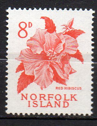 Norfolk Inseln, Mi-Nr. 30 **, Hibiskusblüte 0