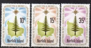 Norfolk Inseln, Mi-Nr. 170 - 172 **, kompl., Weihnachten 1975