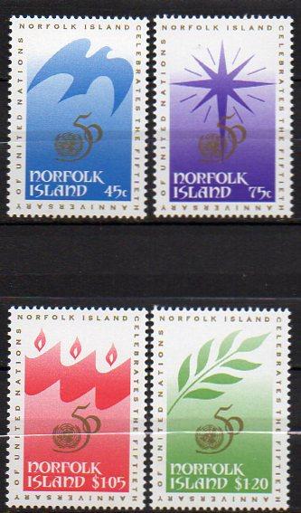 Norfolk Inseln, Mi-Nr. 600 - 603 **, kompl., 50 Jahre UNO 0