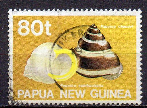 Papua Neuguinea, Mi-Nr. 634 gest., Schnecke