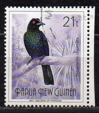 Papua Neuguinea, Mi-Nr. 647 I II gest., Paradiesvogel