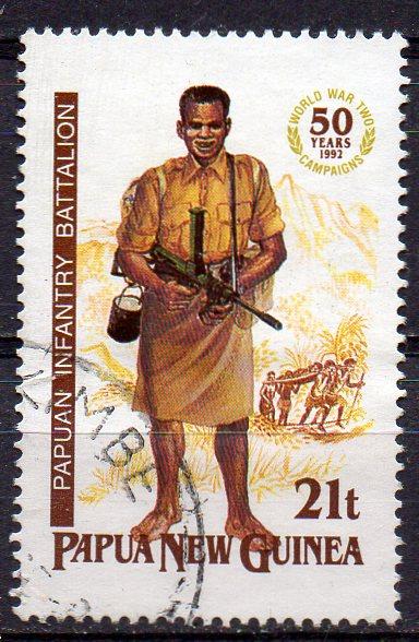 Papua Neuguinea, Mi-Nr. 659 gest., Soldat