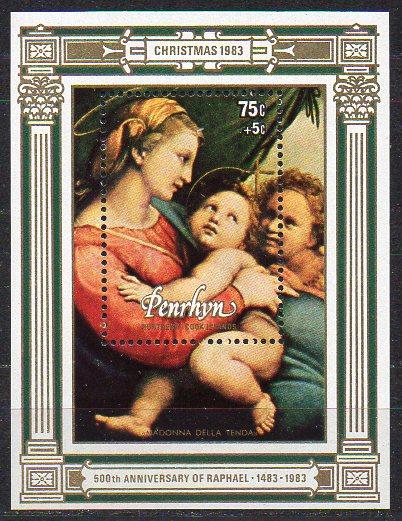 Penrhyn, Block Mi-Nr. 54 **, Weihnachten 1983