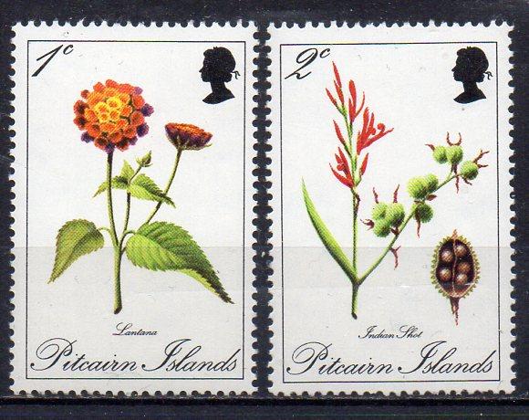 Pitcairn Inseln, Mi-Nr. 110 + 111 **, Blumen