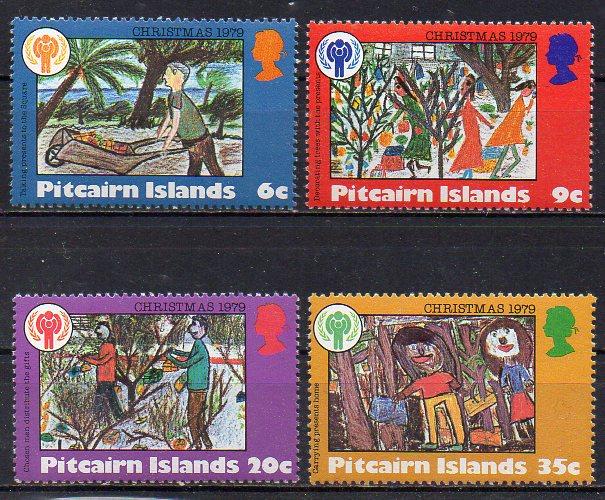 Pitcairn Inseln, Mi-Nr. 188 - 191 **, kompl., Weihnachten 1979