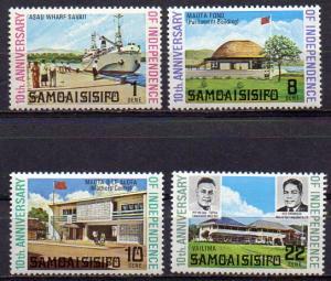 Samoa, Mi-Nr. 249 - 252 **, kompl., 10 jahre Unabhängigkeit