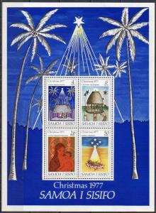 Samoa, Block Mi-Nr. 14 **, Weihnachten 1977