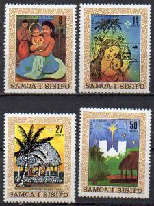 Samoa, Mi-Nr. 442 - 445 **, kompl., Weihnachten