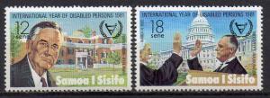 Samoa, Mi-Nr. 450 + 451 **, Internationales Jahr der Behinderten 1981
