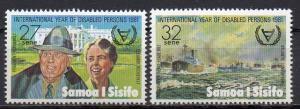 Samoa, Mi-Nr. 452 + 453 **, Internationales Jahr der Behinderten 1981