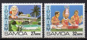 Samoa, Mi-Nr. 458 + 459 **, Tourismus