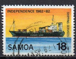 Samoa, Mi-Nr. 477 gest., Frachtschiff
