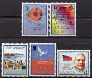 Samoa, Mi-Nr. 607 - 611 **, kompl., 25 Jahre Unabhängigkeit