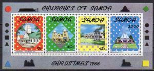 Samoa, Block Mi-Nr. 45 **, Weihnachten 1988