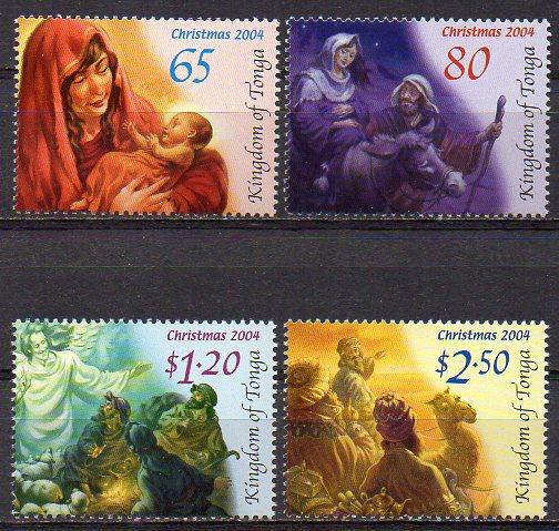 Tonga, Mi-Nr. 1711 - 1714 **, kompl., Weihnachten 2004