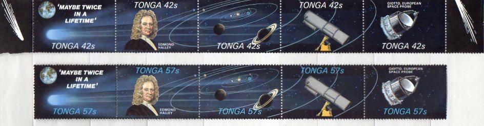 Tonga, Mi-Nr. 932 - 941 **, kompl., Edmond Halley / Weltraum / Komet