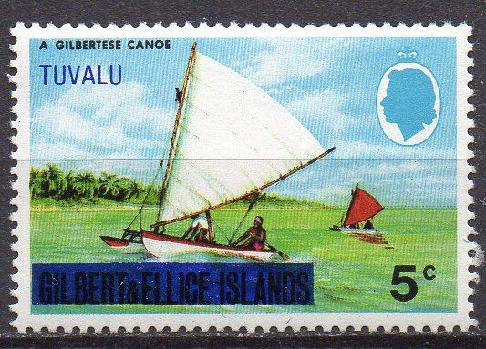 Tuvalu, Mi-Nr. 5 **, Segelboot