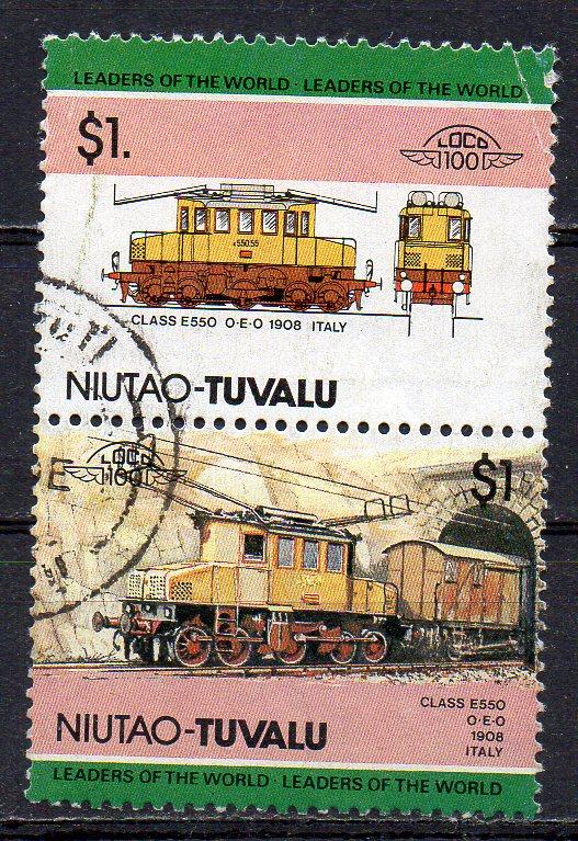Tuvalu - Niutao, Mi-Nr. 19 + 20 gest., ZD, Elektro-Lokomotive
