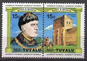 Tuvalu - Nui, Mi-Nr. 13 + 14 **, ZD,  König Heinrich V.