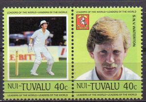 Tuvalu - Nui, Mi-Nr. 39 + 40 **, ZD, Cricket Spieler