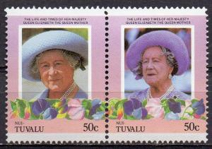 Tuvalu - Nui, Mi-Nr. 47 + 48 **, ZD, Königin - Mutter