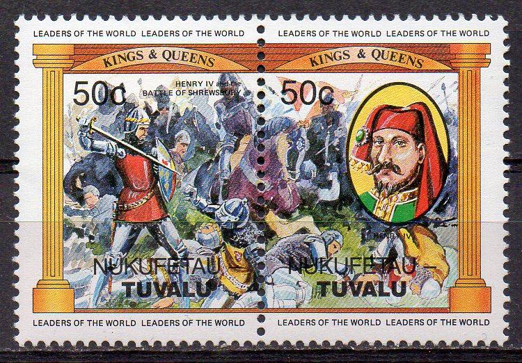 Tuvalu - Nukufetau, Mi-Nr. 17 + 18 **, ZD, König Heinrich IV.