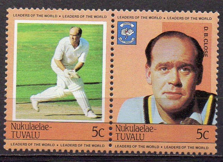 Tuvalu - Nukulaelae, Mi-Nr. 9 + 10 **, ZD, Cricket - Spieler