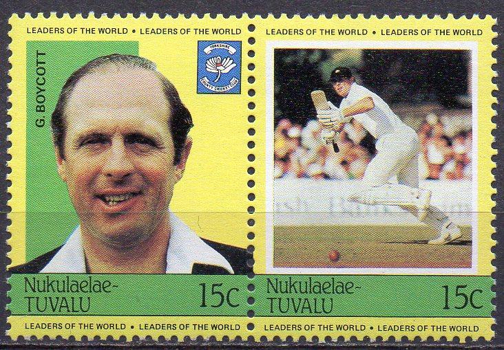Tuvalu - Nukulaelae, Mi-Nr. 11 + 12 **, ZD, Cricket - Spieler