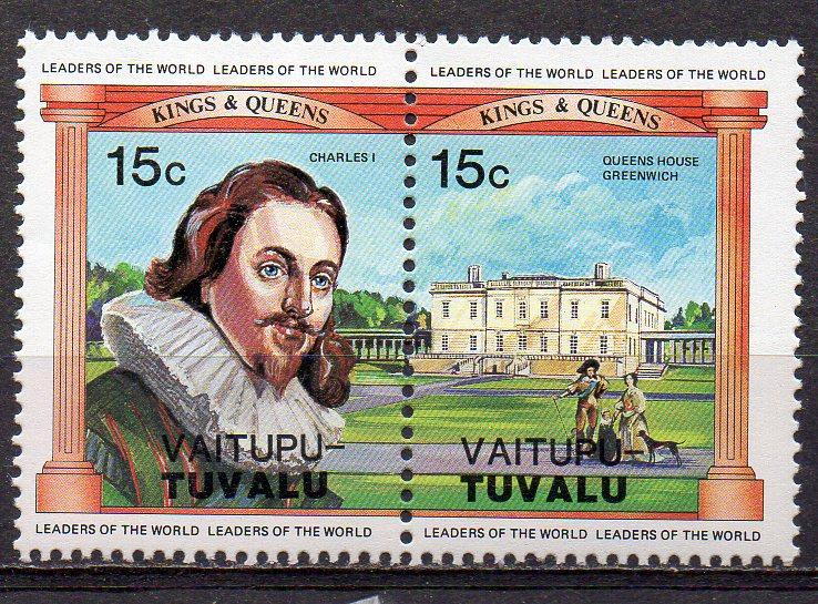 Tuvalu - Vaitupu, Mi-Nr. 13 + 14 **, ZD, König Charles I.