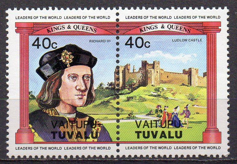 Tuvalu - Vaitupu, Mi-Nr. 15 + 16 **, ZD, König Richard III.