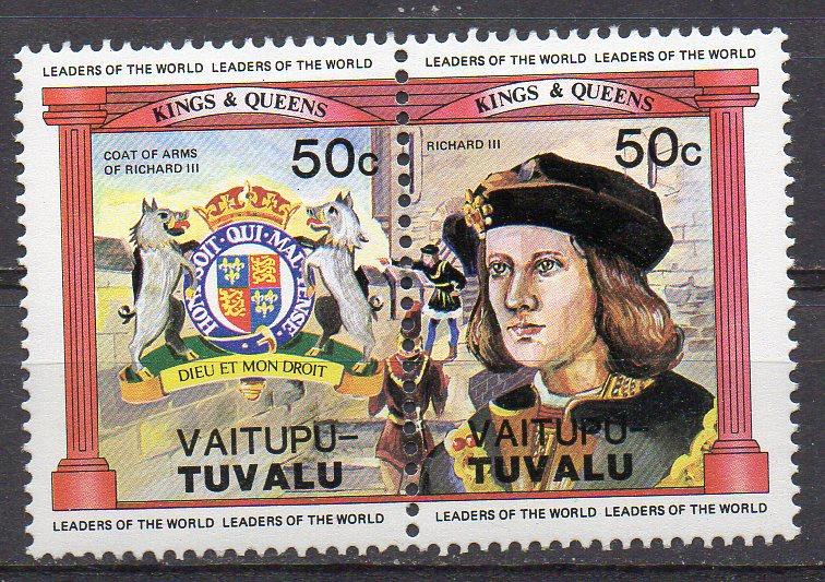 Tuvalu - Vaitupu, Mi-Nr. 17 + 18 **, ZD, König Richard III.