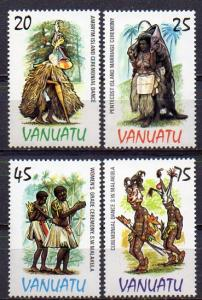 Vanuatu, Mi-Nr. 689 - 692 **, kompl., Tänze
