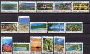 Vanuatu, Mi-Nr. 919 - 934 gest., kompl.,Landschaften - Tourismus