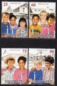 Vanuatu, Mi-Nr. 1020 - 1023 gest., kompl., Weihnachten 1996
