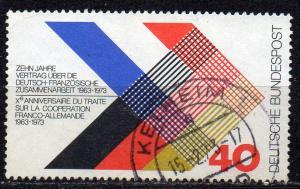 BRD, Mi-Nr. 753 gest., 10 Jahre Vertrag über deutsch-französische Zusammenarbeit