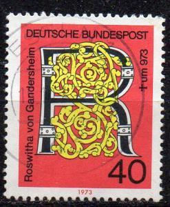 BRD, Mi-Nr. 770 gest., 1000. Todestag von Roswitha von Gandersheim