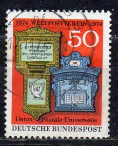 BRD, Mi-Nr. 825 gest., 100 Jahre Weltpostverein (UPU)