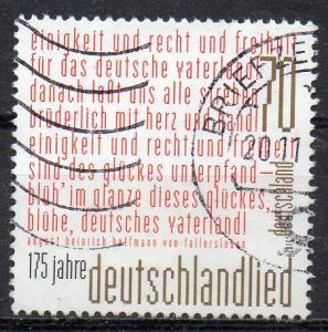 BRD, Mi-Nr. 3263 gest., 175 Jahre Deutschlandlied