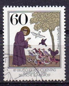 BRD, Mi-Nr. 1149 gest., Hl. Franz von Assisi