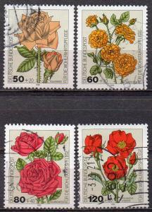 BRD, Mi-Nr. 1150 - 1153 gest., kompl., Wohlfahrt 1982 - Gartenrosen