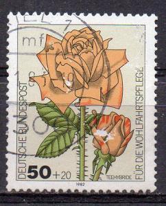 BRD, Mi-Nr. 1150 gest., Wohlfahrt 1982 - Gartenrosen
