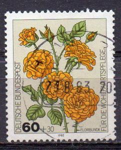 BRD, Mi-Nr. 1151 gest., Wohlfahrt 1982 - Gartenrosen