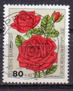 BRD, Mi-Nr. 1152 gest., Wohlfahrt 1982 - Gartenrosen
