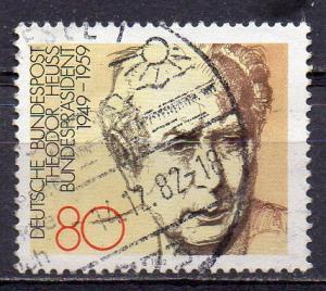 BRD, Mi-Nr. 1156 gest., Bundespräsident Theodor Heuss (aus Block 18)