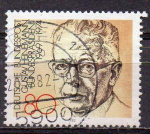 BRD, Mi-Nr. 1158 gest., Bundespräsident Gustav Heinemann (aus Block 18)