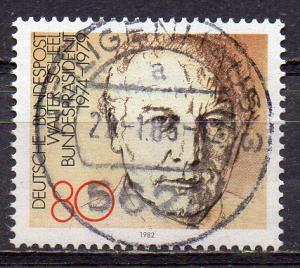 BRD, Mi-Nr. 1159 gest., Bundespräsident Walter Scheel (aus Block 18)