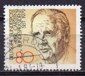 BRD, Mi-Nr. 1160 gest., Bundespräsident Karl Carstens (aus Block 18)
